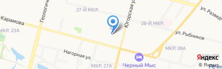 RegionHotel на карте Сургута