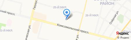 ДЕЗ ВЖР на карте Сургута