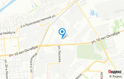 Местоположение на карте пункта техосмотра по адресу г Омск, ул 10 лет Октября, д 203Г