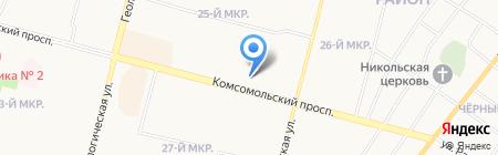Еника на карте Сургута