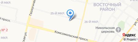 Лицей им. генерала-майора В.И. Хисматулина на карте Сургута