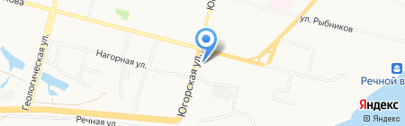 Тион на карте Сургута