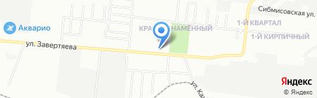 У дома на карте Омска
