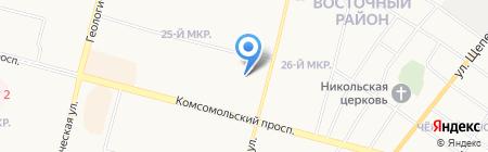 Пенная лавка на карте Сургута