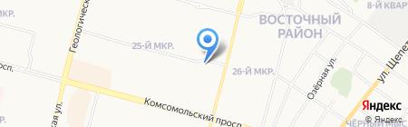 Галомед на карте Сургута