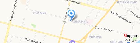 Шерстяные узоры на карте Сургута