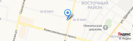 Монетка на карте Сургута