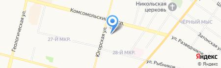 Продуктовый магазин на Югорской на карте Сургута