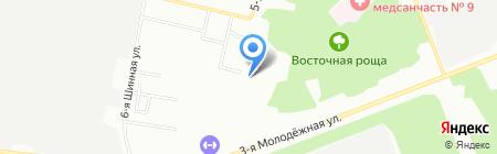 Фиалка на карте Омска