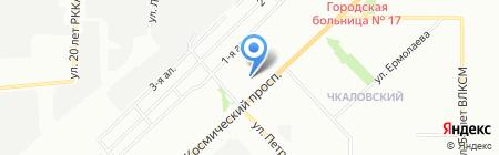 Чкаловский-2 на карте Омска