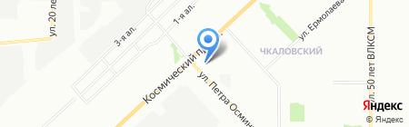 Чкаловский-3 на карте Омска