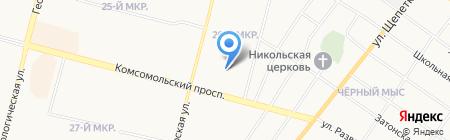 Локон на карте Сургута