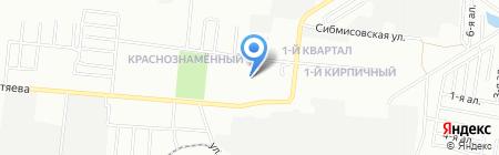Первокирпичный на карте Омска