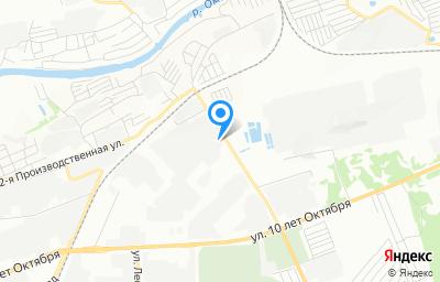 Местоположение на карте пункта техосмотра по адресу г Омск, ул 2-я Учхозная, д 1А