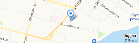 Золотая Рыбка на карте Сургута