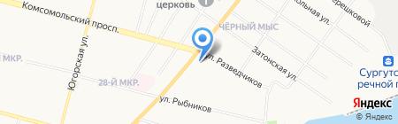 Многофункциональный центр по предоставлению государственных и муниципальных услуг населению г. Сургута на карте Сургута