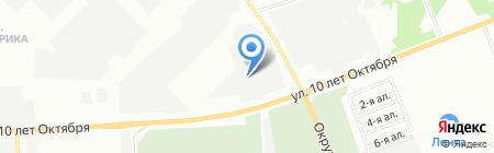 Мозель-Омск на карте Омска