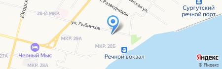 Управление лесопаркового хозяйства и экологической безопасности на карте Сургута