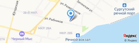 Лидия на карте Сургута