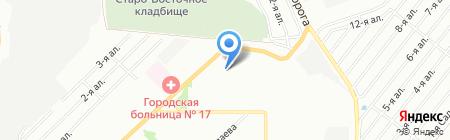 Арт фото на карте Омска