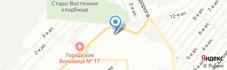 Семейный квартал на карте Омска