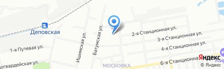 Детский сад №207 на карте Омска
