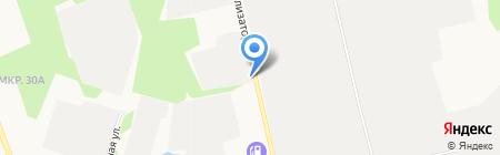 Магазин автозапчастей на ул. Рационализаторов на карте Сургута