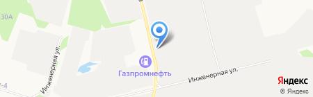 Шиномонтажная мастерская на ул. Рационализаторов на карте Сургута