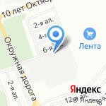 Сеть магазинов на карте Омска