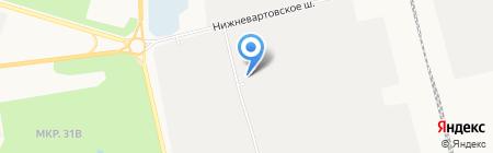 Сибпромстрой №9 на карте Сургута