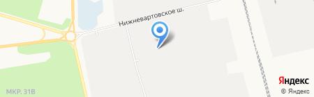Продуктовый магазин на Нижневартовском шоссе на карте Сургута
