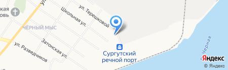 Фортуна на карте Сургута