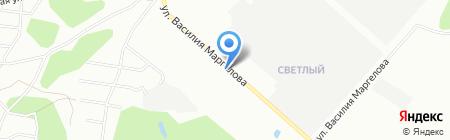 Светлый на карте Омска