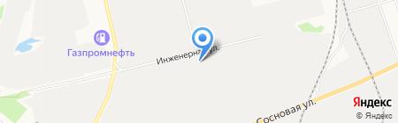 Кедровая на карте Сургута