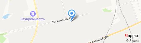 Каспий на карте Сургута