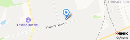 Стальной канат на карте Сургута