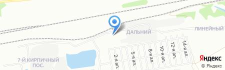 Дальний на карте Омска