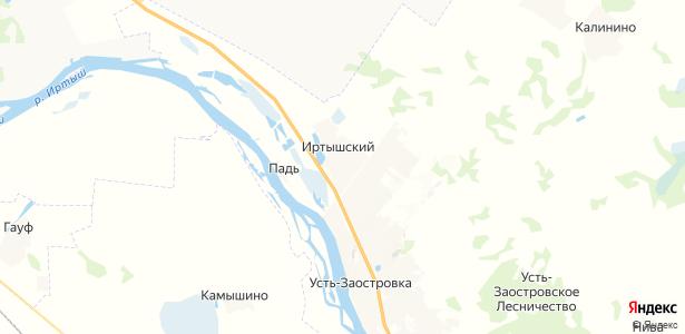 Иртышский на карте