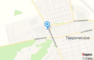 Местоположение на карте пункта техосмотра по адресу Омская обл, рп Таврическое, ул Магистральная, д 4
