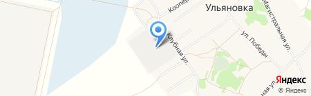 Ульяновское на карте Богословки