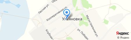 Ульяновская средняя общеобразовательная школа на карте Богословки