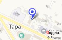 Схема проезда до компании БАНЯ №1 в Таре