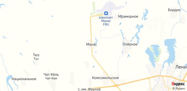 Манас на карте