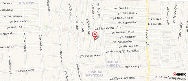 Карта расположения пункта доставки На Ахматбека Суюнбаева в городе Бишкек