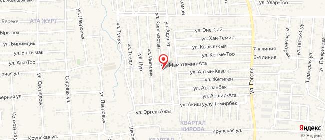 Карта расположения пункта доставки 12-й микрорайон в городе Бишкек
