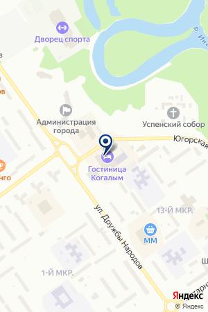 ГЛИССАДА на карте Когалыма
