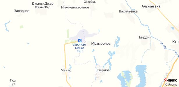 Мраморное на карте