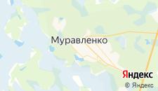 Гостиницы города Муравленко на карте