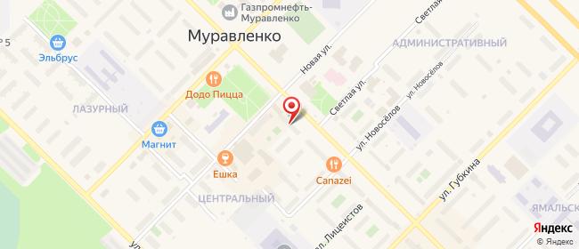 Карта расположения пункта доставки Муравленко Ленина в городе Муравленко