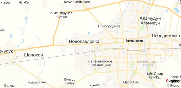 Новопавловка на карте
